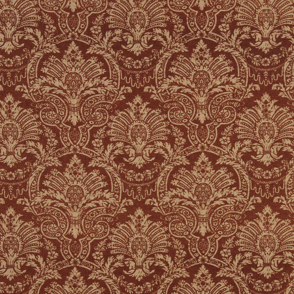 SAFFRON-AUBURN-SIENNA Country Club Fabric - Sienna