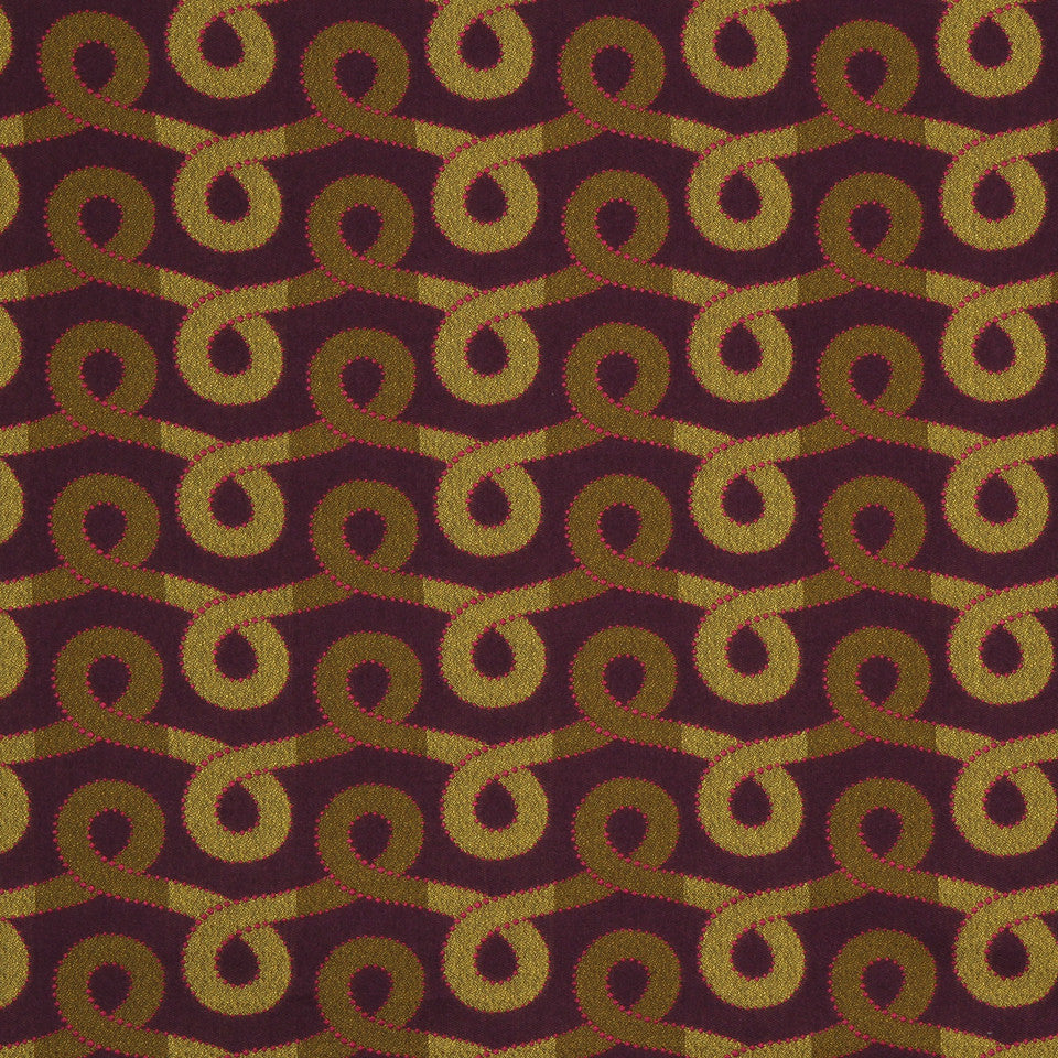 ORCHID-MANDARIN-WHIRLPOOL Graceful Swirl Fabric - Berry Crush