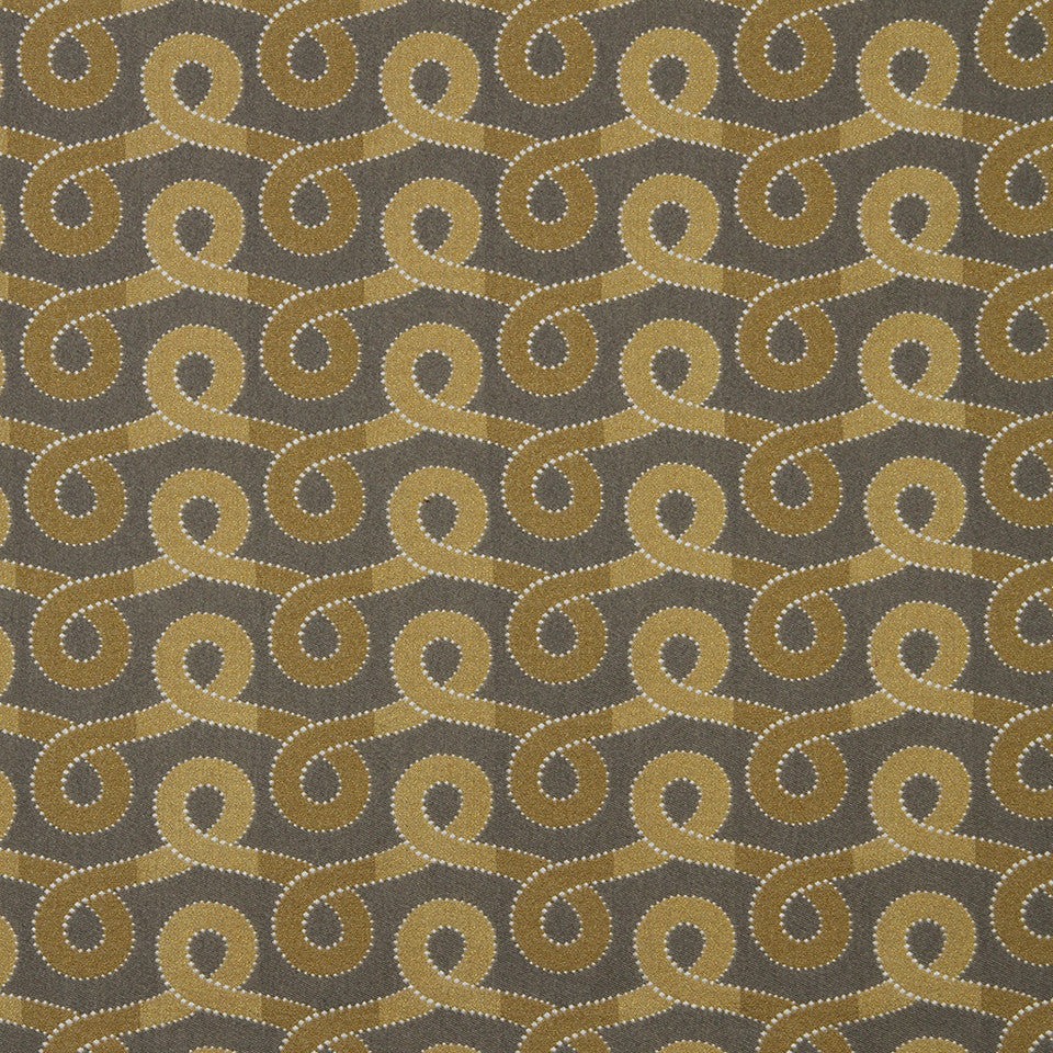 ZEST Graceful Swirl Fabric - Zest