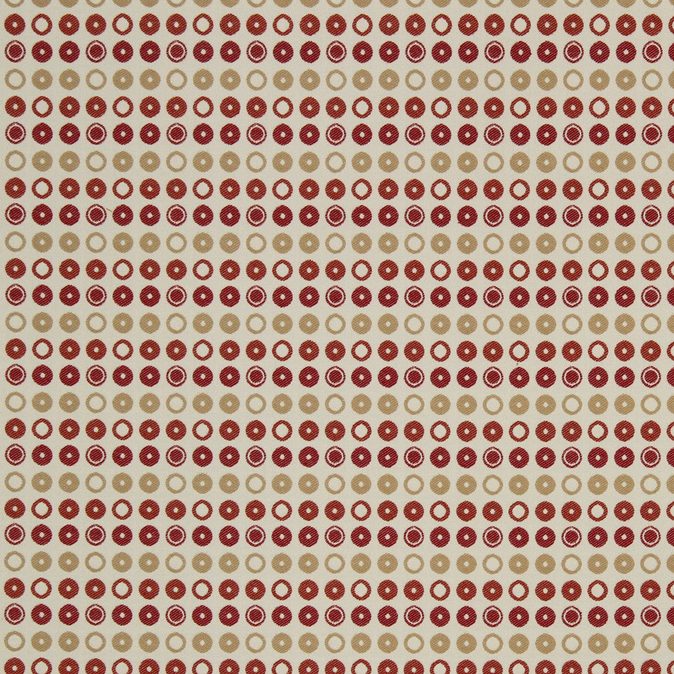 SAFFRON-AUBURN-SIENNA Drops Of Dots Fabric - Saffron