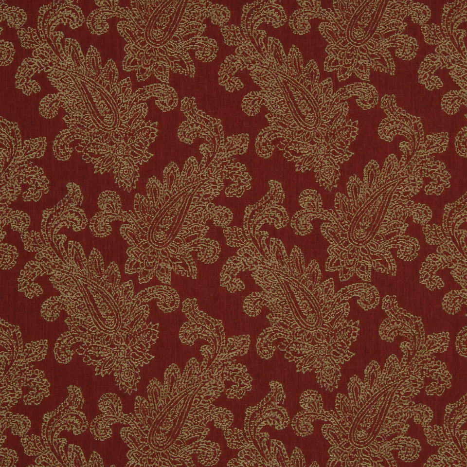 RED HOT Paisley Puff Fabric - Red Hot