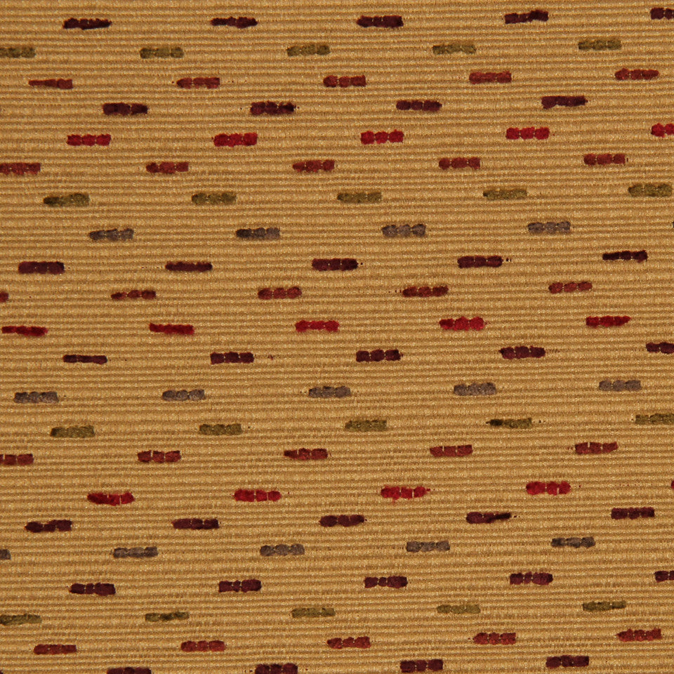 RED HOT Dashes Fabric - Red Hot