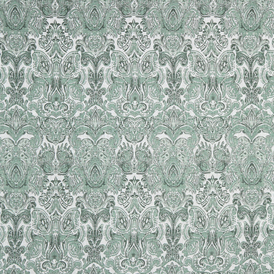GRAIN-COBBLESTONE-SEA Tower Hill Fabric - Jade