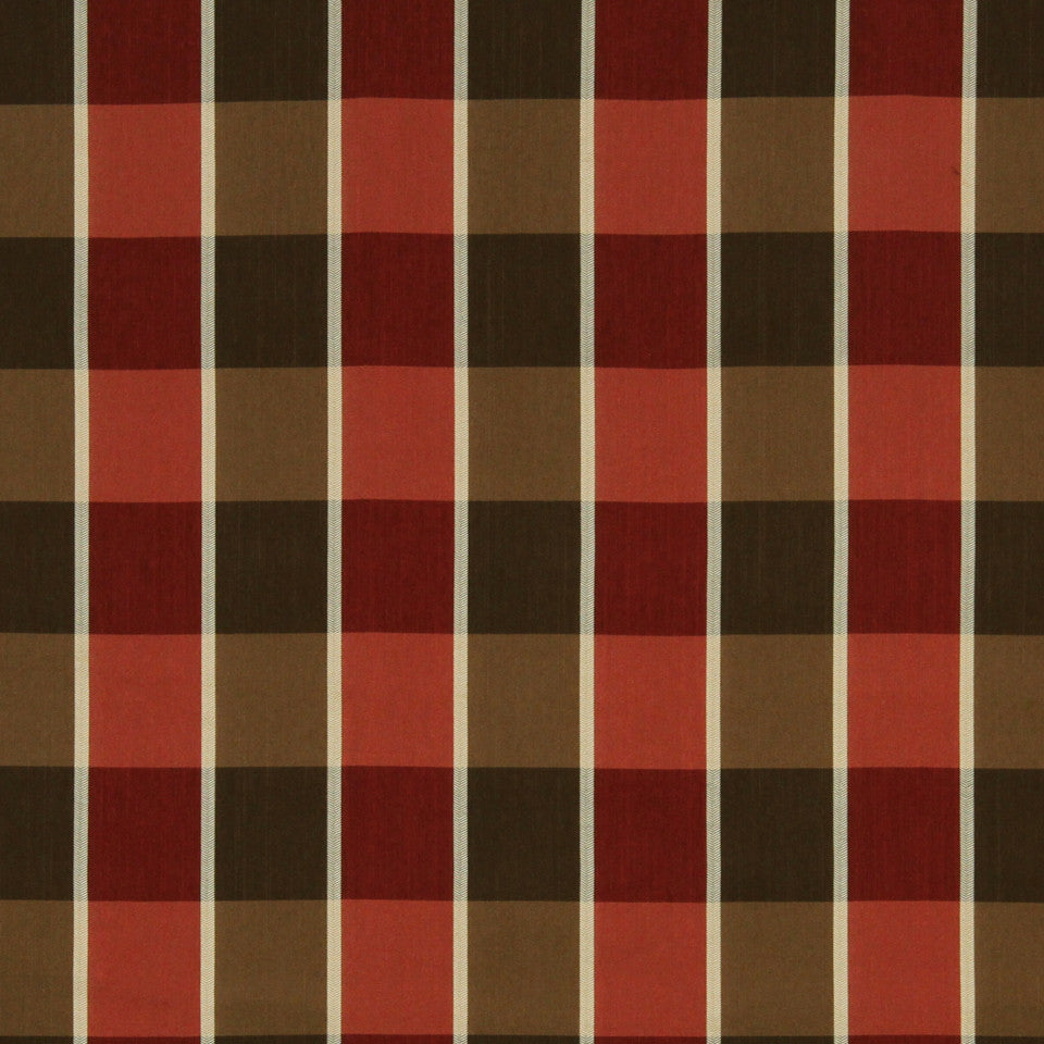 RED HOT Wheat Street Fabric - Red Hot