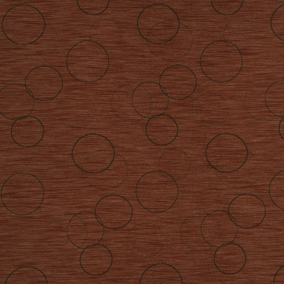 MULTI PURPOSE ECLECTIC MULTI-USE FABRICS Morning Circle Fabric - Habanero
