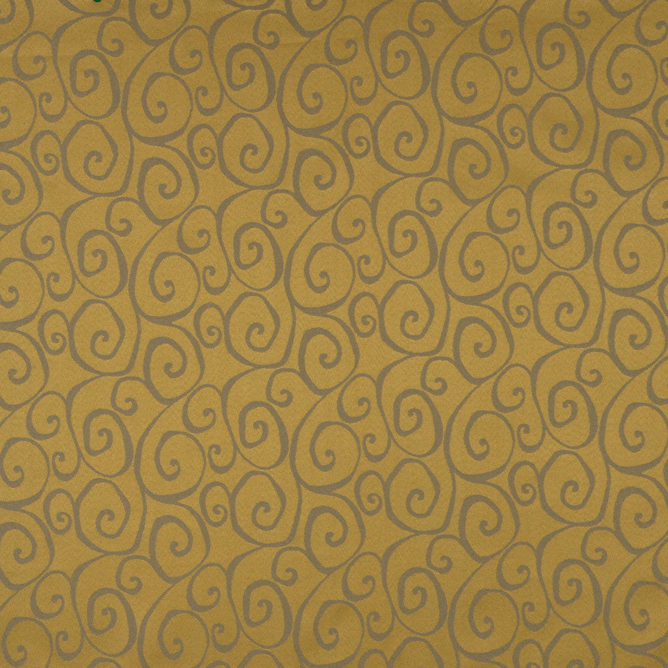 MULTI PURPOSE ECLECTIC MULTI-USE FABRICS Curvy Fabric - Mustard