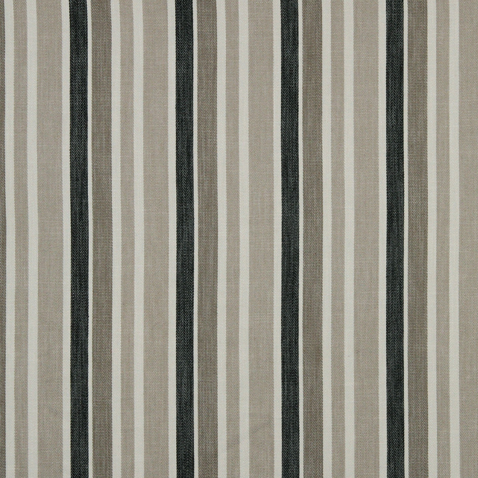 GRAPHITE-NIGHT SKY-GREYSTONE Striped Lines Fabric - Greystone