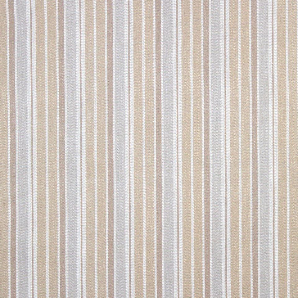 PUMICE-WHITEWASH-FLAX Herring Stripe Fabric - Delft