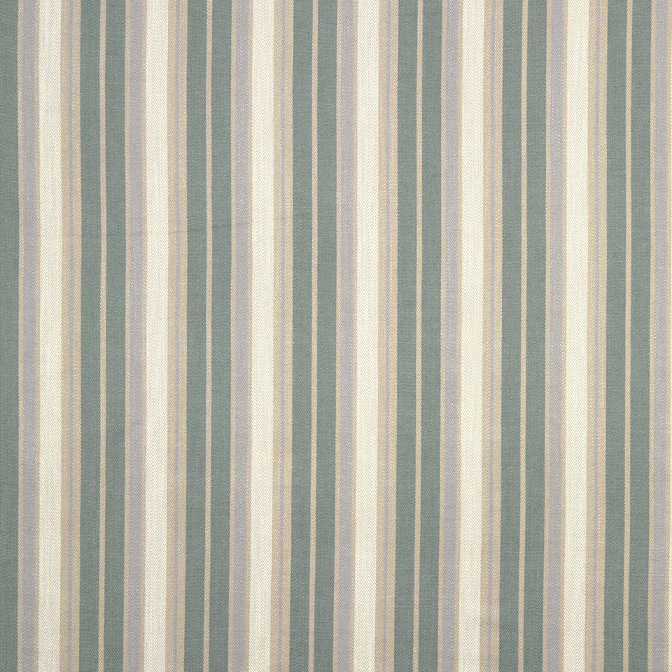 GRAIN-COBBLESTONE-SEA Herring Stripe Fabric - Mineral