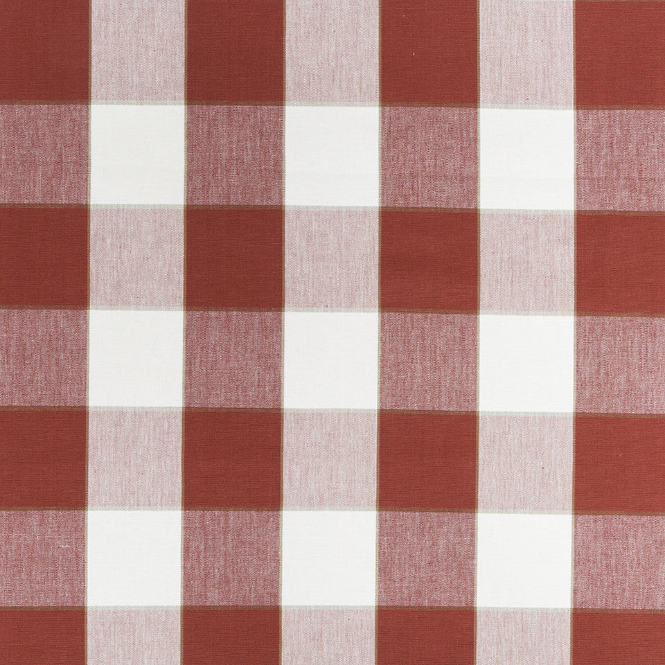 COLOR LIBRARY MULTI-PURPOSE: CHOCOLATE-LEMONGRASS-PEONY Kal Plaid Fabric - Garnet