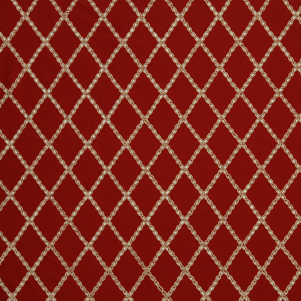 LAVA-RED HOT-GARNET Drizzled Fabric - Red Hot
