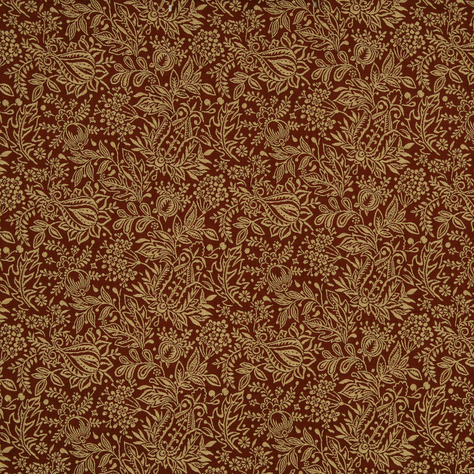RED HOT Floral Finery Fabric - Red Hot