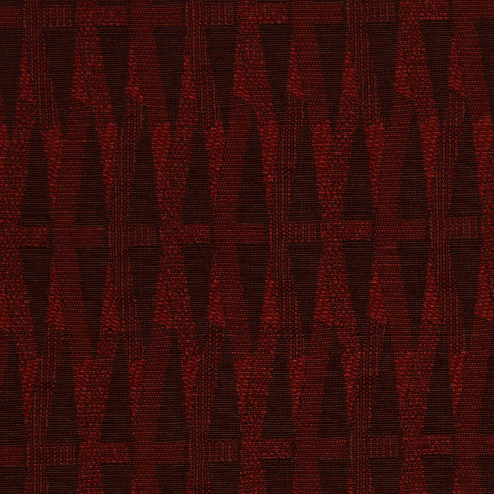 RED HOT Diagonal Lines Fabric - Red Hot