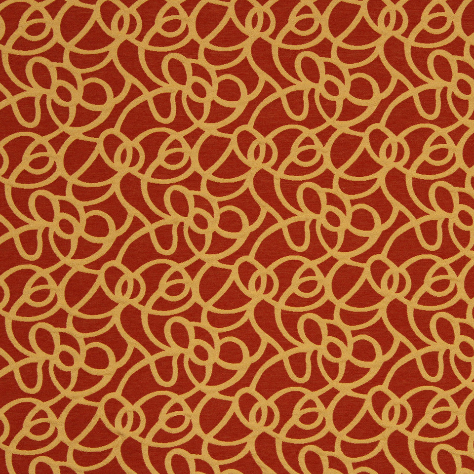 SAFFRON Basic Swirls Fabric - Saffron