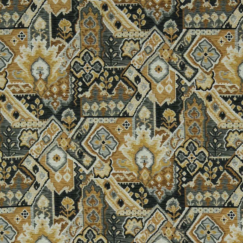 GRAPHITE-NIGHT SKY-GREYSTONE Aztec Wind Fabric - Graphite