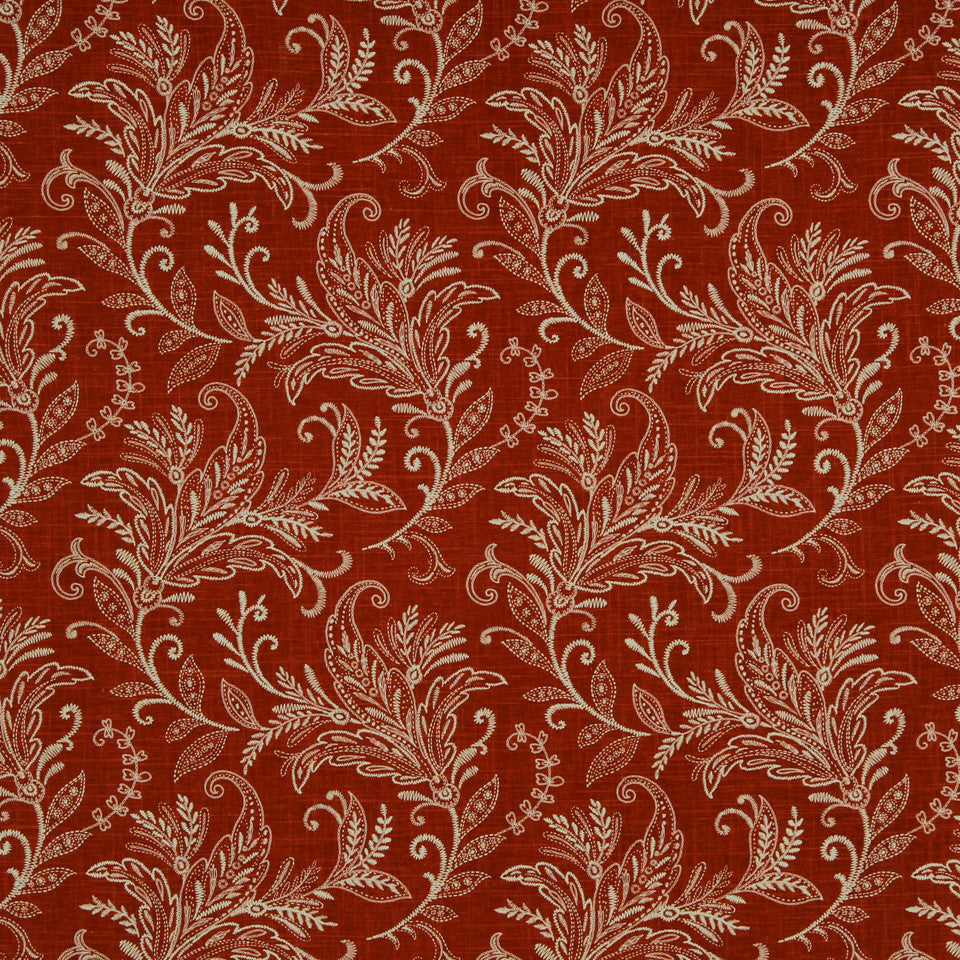 LAVA-RED HOT-GARNET Chain Of Bows Fabric - Garnet
