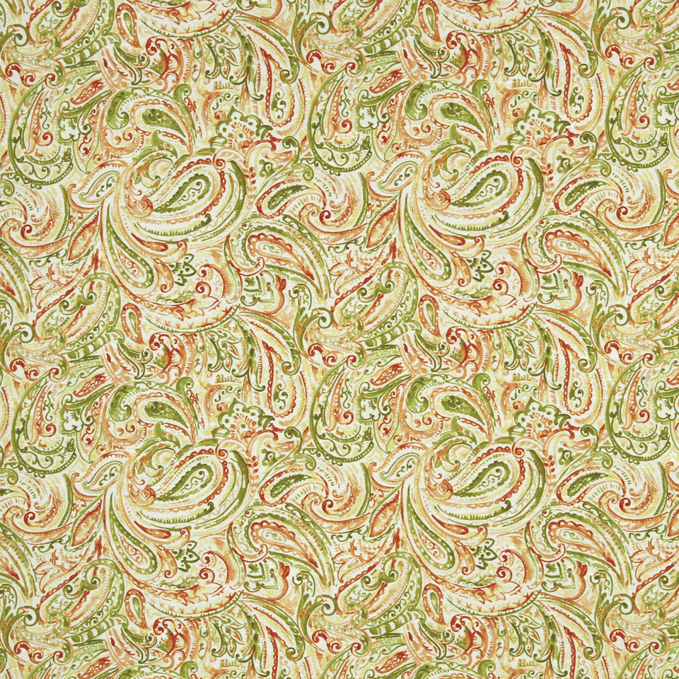 MANGO-PEONY-WATERMELON Paisley Patch Fabric - Watermelon