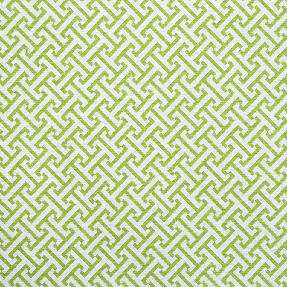 COLOR LIBRARY MULTI-PURPOSE: WATER-COBALT-SPRING GRASS Split Squares Fabric - Kiwi