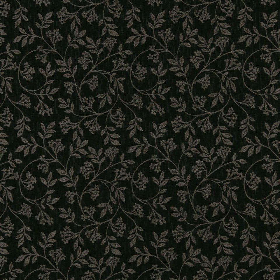 GRAPHITE-NIGHT SKY-GREYSTONE Metallic Leaf Fabric - Night Sky