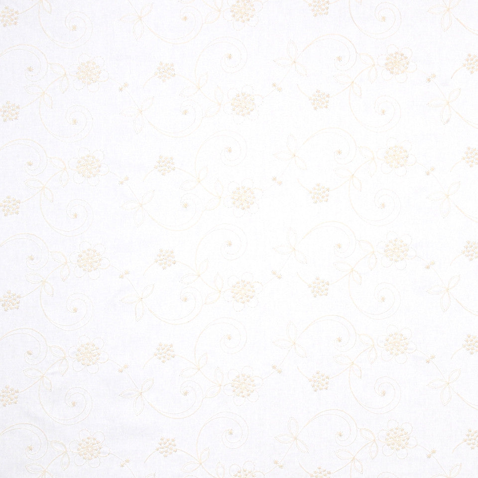 PUMICE-WHITEWASH-FLAX Summer Song Fabric - Cloud