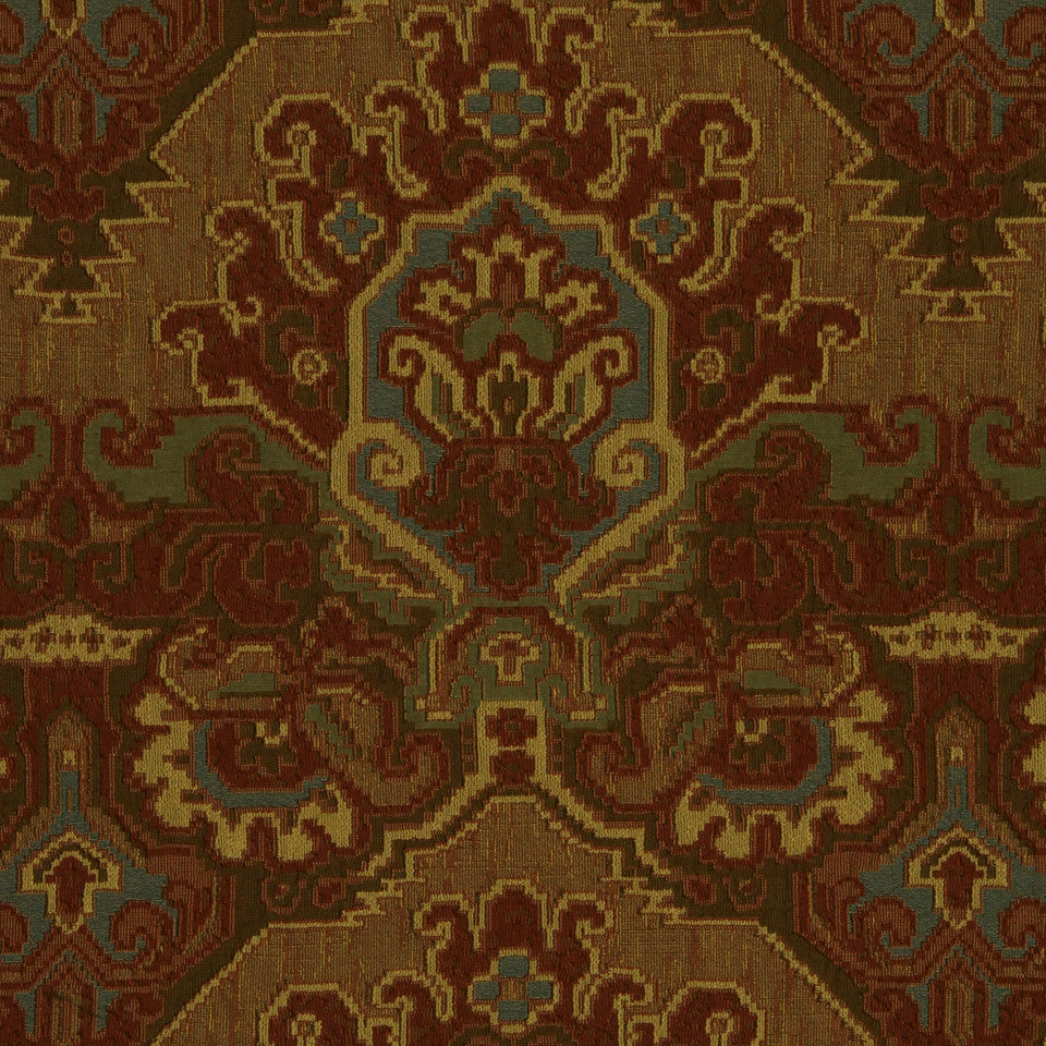 RED HOT Tayasal Fabric - Red Hot