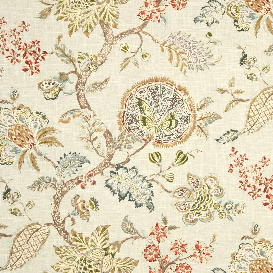 GRAIN-COBBLESTONE-SEA Flower Oasis Fabric - Mineral