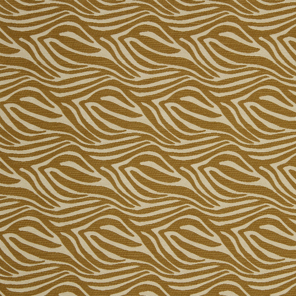 ZEST Wavy Trails Fabric - Zest