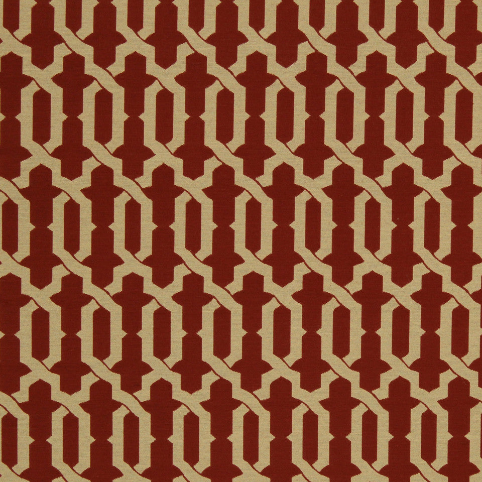 LAVA-RED HOT-GARNET Levittown Fabric - Red Hot