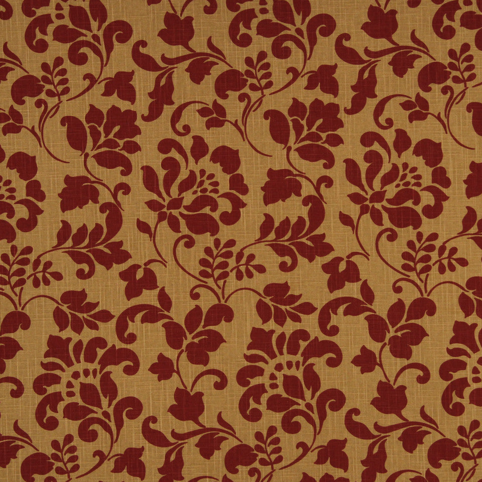 LAVA-RED HOT-GARNET Harbor Inn Fabric - Garnet