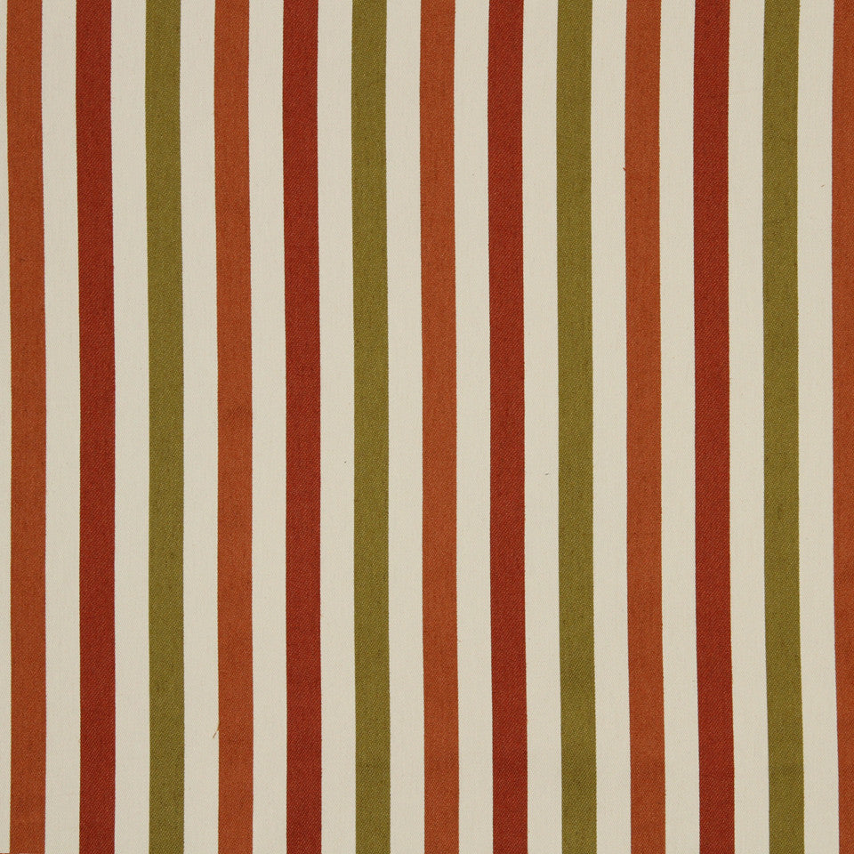 SAFFRON Endless Stripe Fabric - Mango