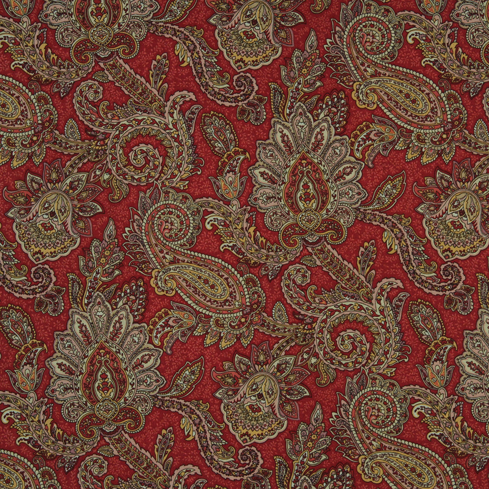 LAVA-RED HOT-GARNET English Manor Fabric - Lava