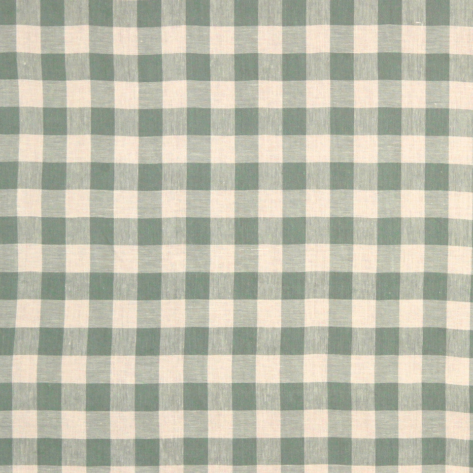 GRAIN-COBBLESTONE-SEA Moyen Check Fabric - Aqua