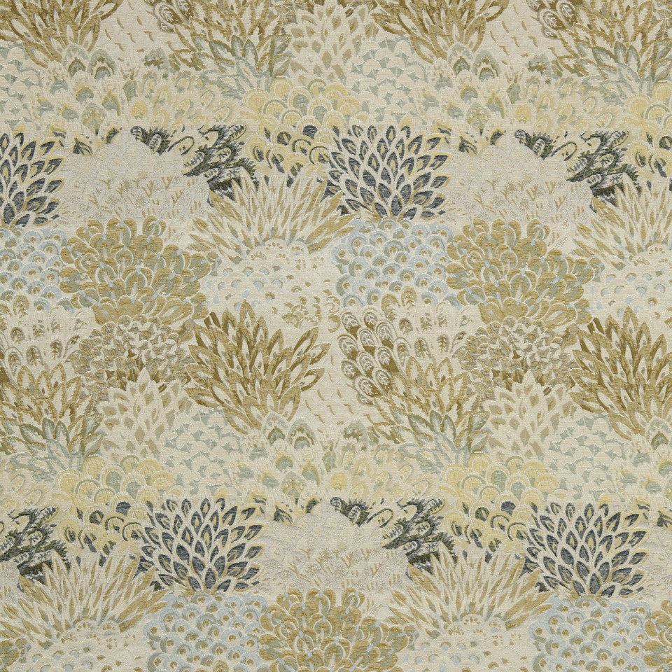 ZEST Feather Fans Fabric - Zest