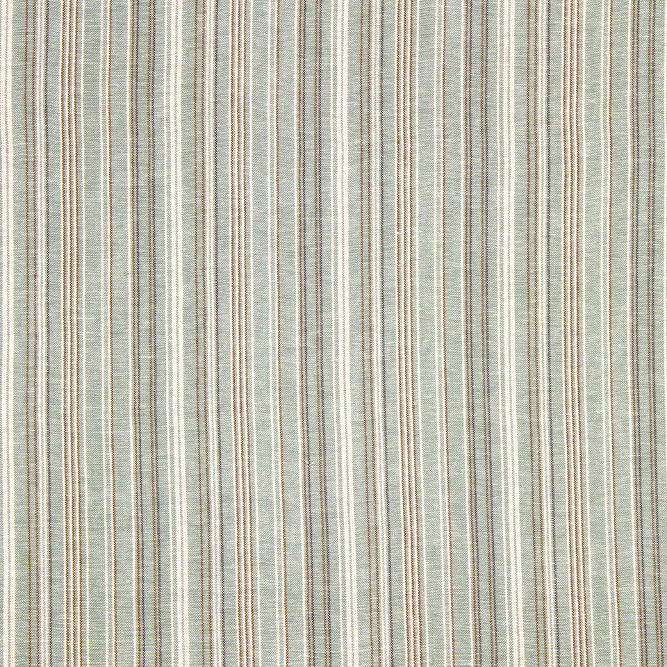 GRAIN-COBBLESTONE-SEA Cool Stripes Fabric - Lapis