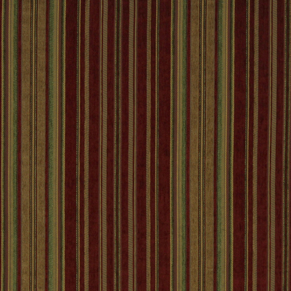 RED HOT Swansea Stripe Fabric - Red Hot