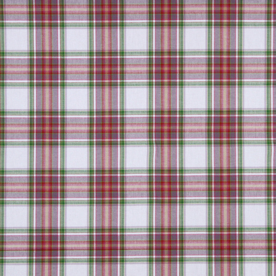 MANGO-PEONY-WATERMELON Charming Plaid Fabric - Watermelon