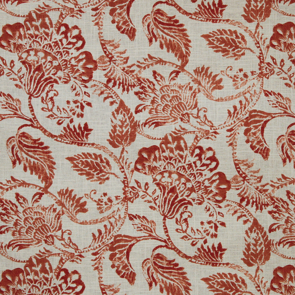 SAFFRON-AUBURN-SIENNA Summer Dream Fabric - Saffron