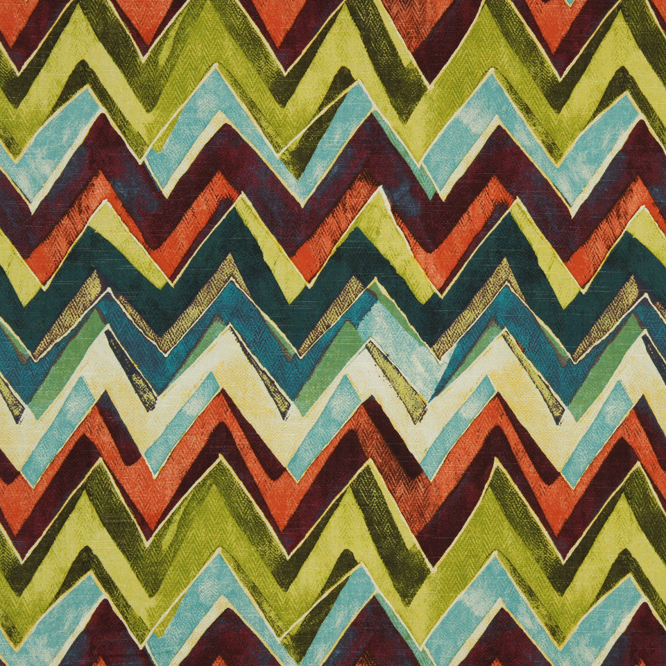 LARRY LASLO GEMSTONE Color Field Fabric - Leaf