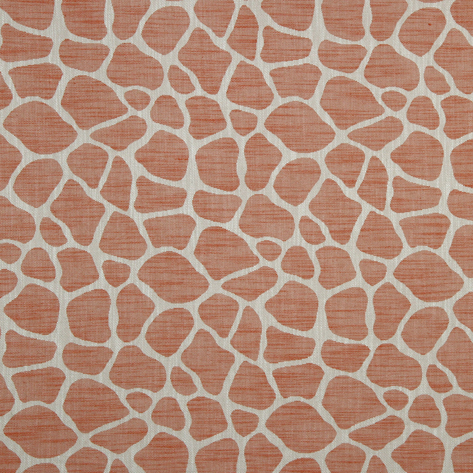 LARRY LASLO GEMSTONE Rocky Way Fabric - Tangerine