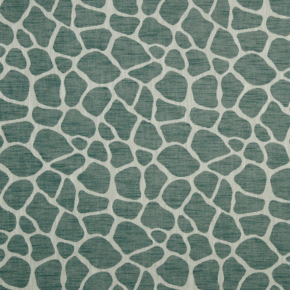 LARRY LASLO GEMSTONE Rocky Way Fabric - Aquamarine