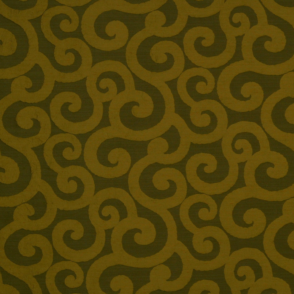 LARRY LASLO GEMSTONE Ratana Swirl Fabric - Brass