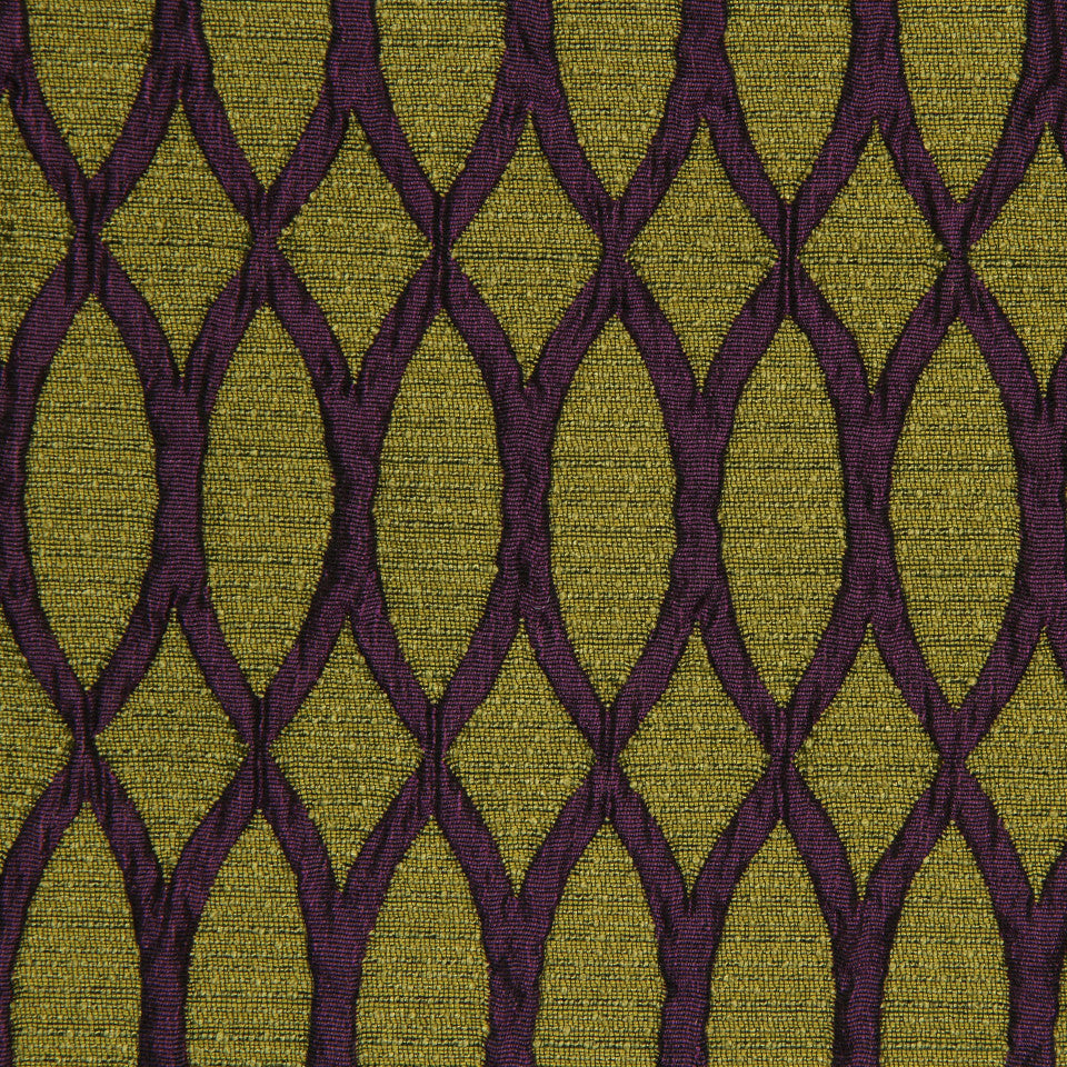 LARRY LASLO GEMSTONE Opal Line Fabric - Amethyst