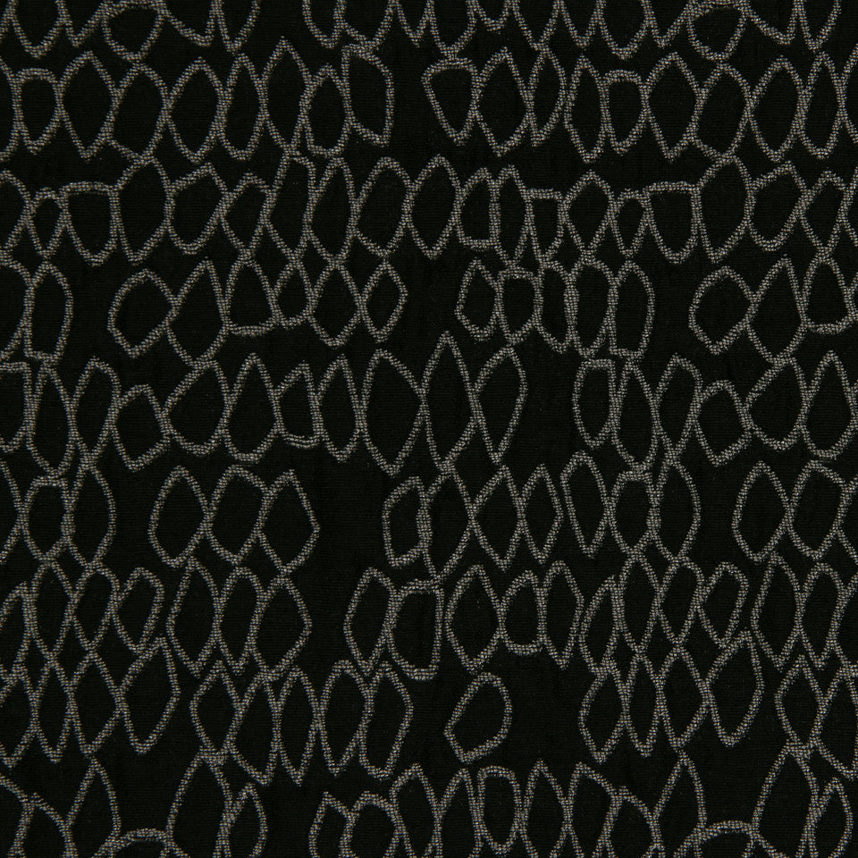 LARRY LASLO QUARTZ STONE Rockery Fabric - Onyx