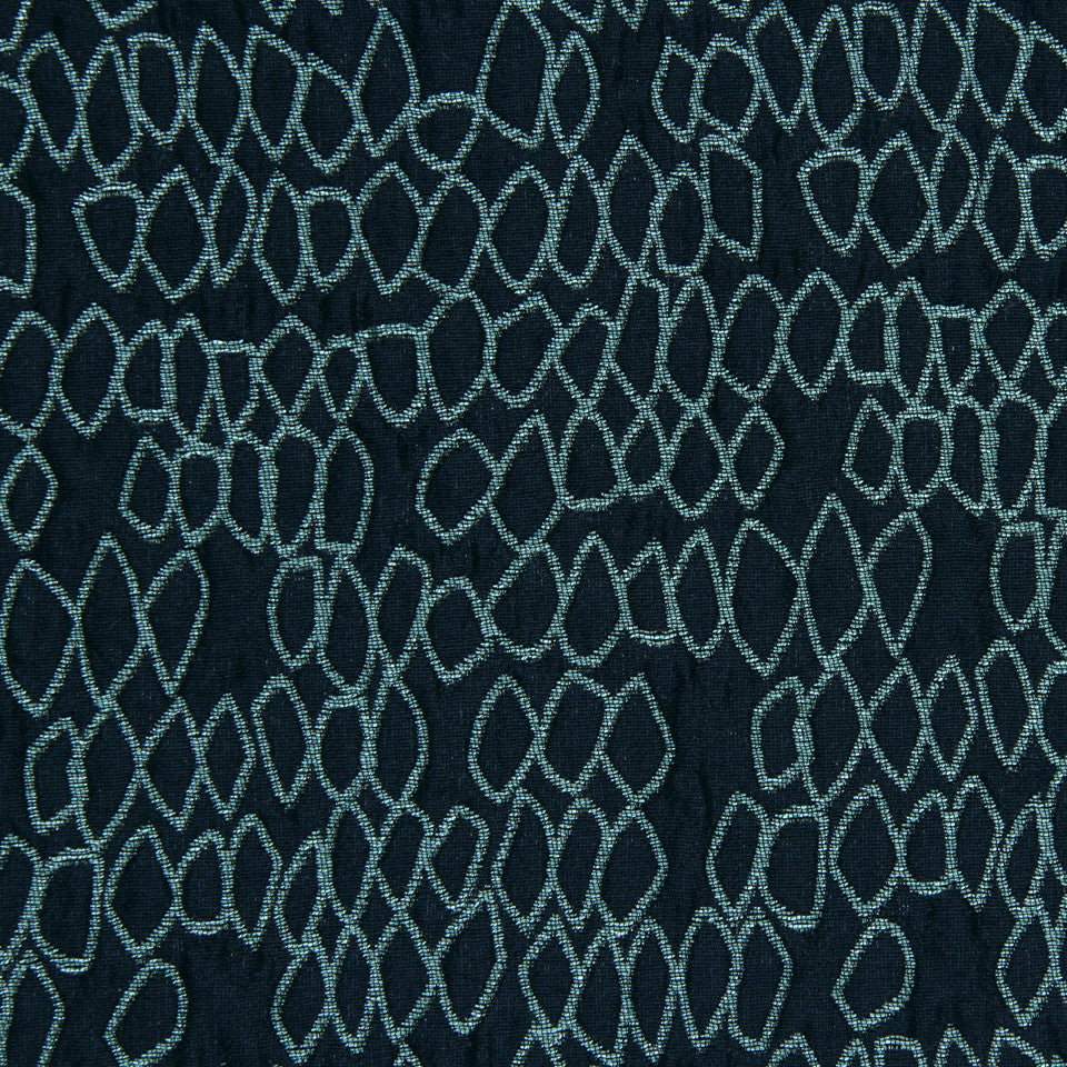 LARRY LASLO GEMSTONE Rockery Fabric - Aquamarine