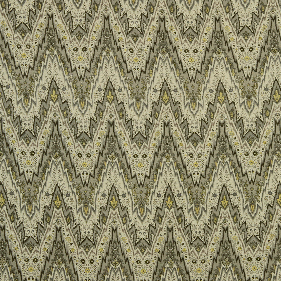 GOLDEN-MAIZE-HONEYSUCKLE Shurcliff Fabric - Silver Birch