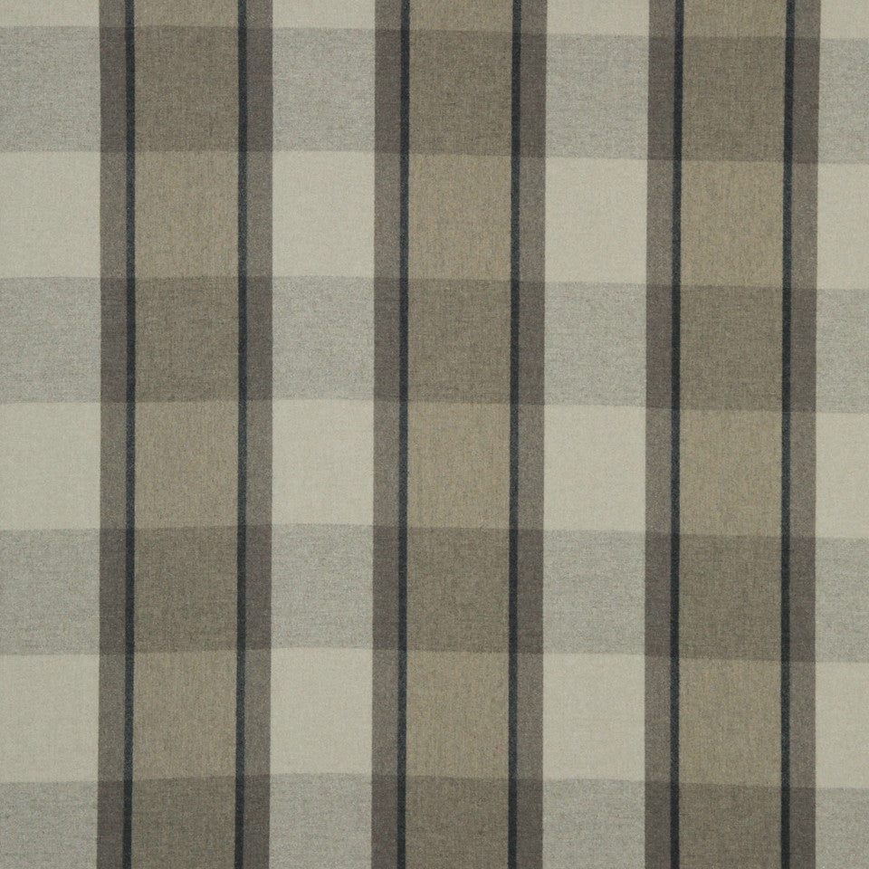 LARRY LASLO QUARTZ STONE Plaid Wool Fabric - Mineral