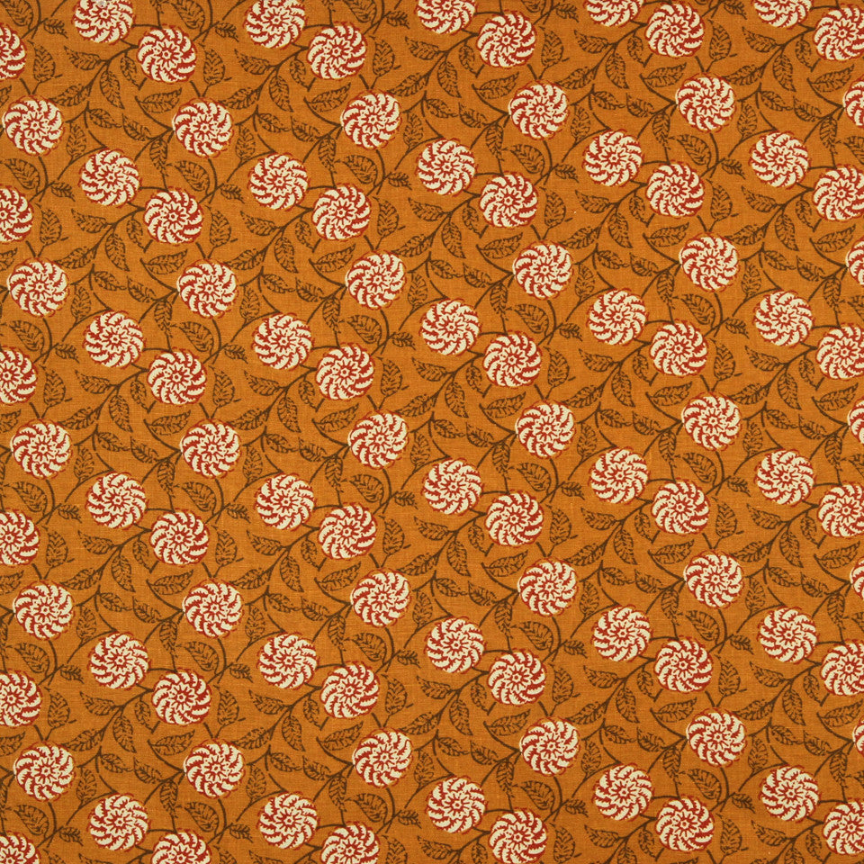 WILLIAMSBURG CLASSICS COLLECTION II Queens Creek Fabric - Marigold