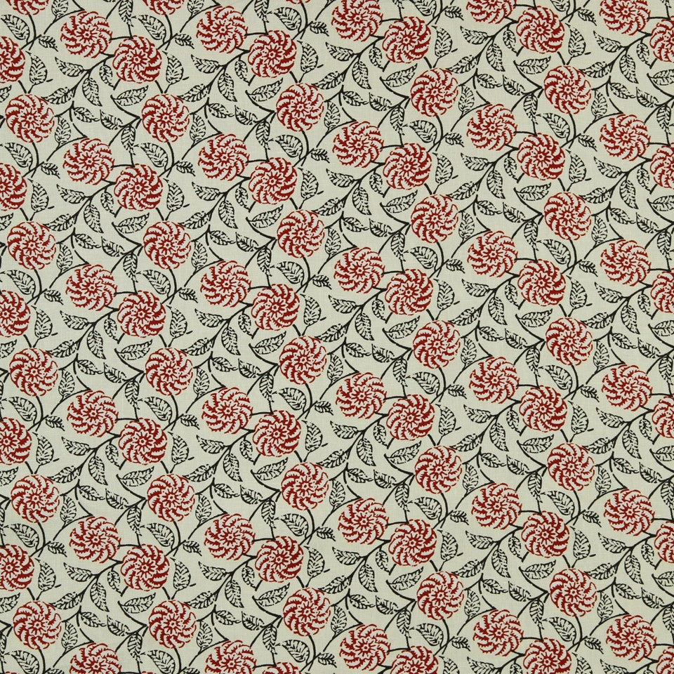WILLIAMSBURG CLASSICS COLLECTION II Queens Creek Fabric - Salem Red