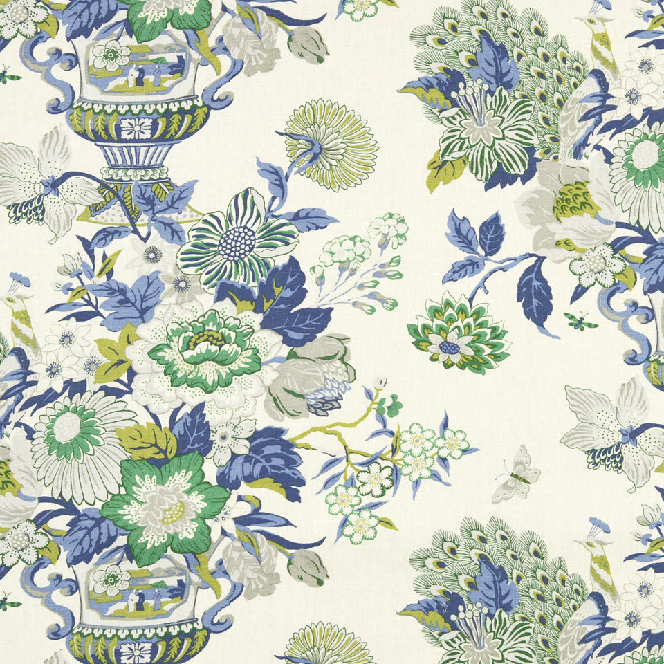 WILLIAMSBURG CLASSICS COLLECTION II Elizas Garden Fabric - Chesapeake