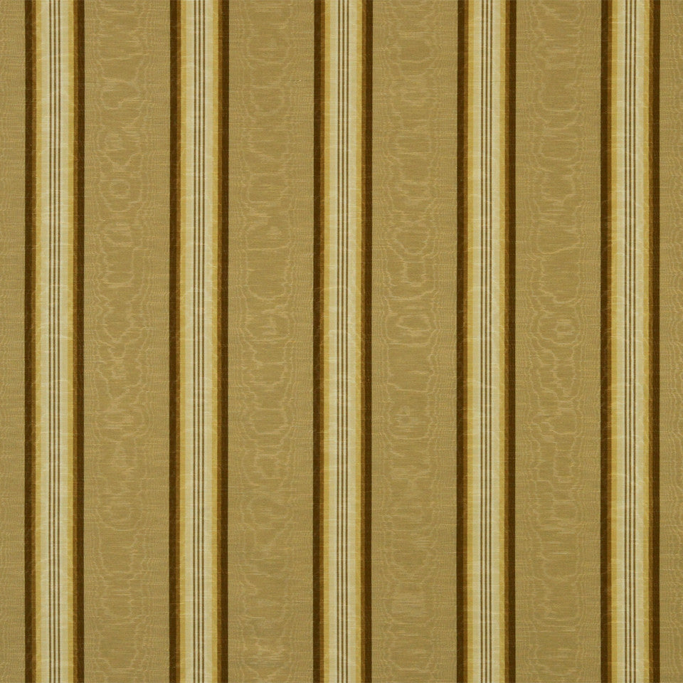 GOLDEN-MAIZE-HONEYSUCKLE Essex Stripe Fabric - Praline